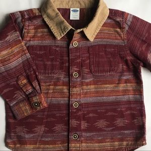Boys shirt size 12 18 months Aztec country red EUC